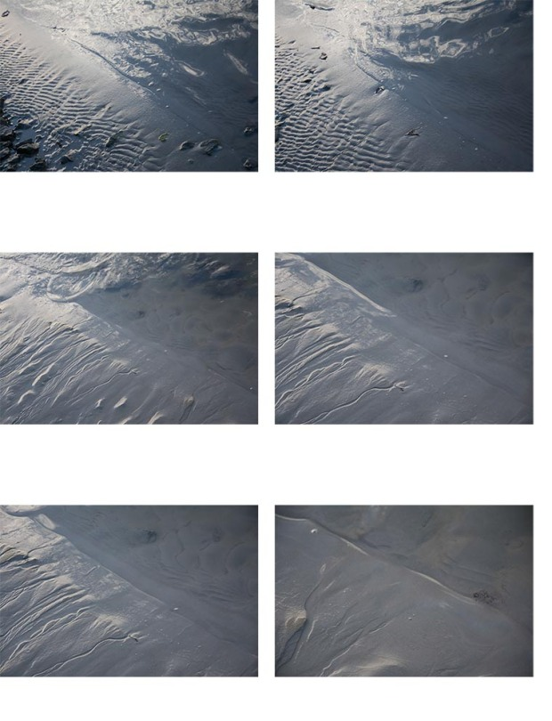 sand contact sheet of sand lines, landscape, seascape