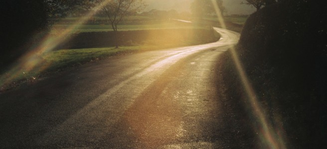 Julie Dawn Dennis 35mm snapshot of country road with sun